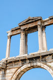 Looking up view of famous Zeus temple pillars in Greece Royalty Free Stock Images
