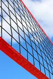 Looking up at volleyball net royalty free stock images