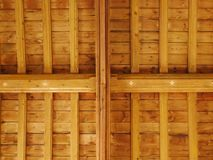 Wooden inside of a Church Roof stock photo