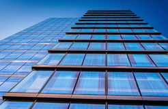 Looking up at the WSFS Bank building in downtown Wilmington, Del Royalty Free Stock Images