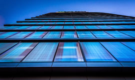 Looking up at the WSFS Bank building in downtown Wilmington, Del. Aware royalty free stock images