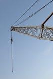 Looking upward at a crane derrick Royalty Free Stock Image