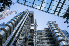 Looking upwards at Lloyds Building in London Royalty Free Stock Photos