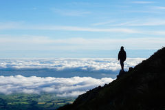 Looking at the valley from Mount Taranaki Stock Photography