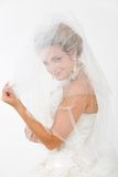 Looking through veil Royalty Free Stock Image