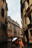 Looking venice beautiful city by using the gondola Royalty Free Stock Photography