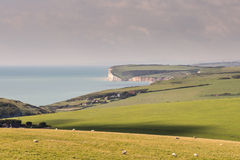Looking west from Beachy Head Stock Photos