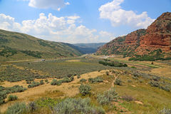Looking west in Echo Canyon Stock Photo