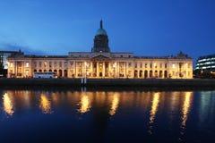 Custom House in Dublin stock photography