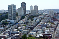 Looking west at San Francisco buildings Royalty Free Stock Image