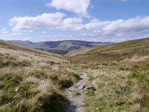 Looking west from the top Dunmail Beck path, Lake District Royalty Free Stock Photo