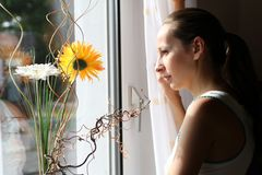 Looking through the window Royalty Free Stock Photos