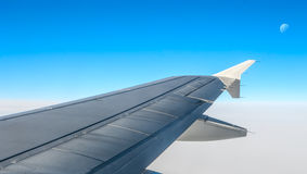 Looking through window aircraft Stock Image