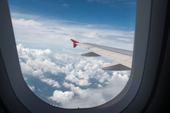 When looking through the window while on a plane. You can see th Royalty Free Stock Photo