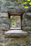 Looking Through the Window of Stone House Royalty Free Stock Photography