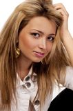 Looking women with blond hairs, isolated Stock Photography