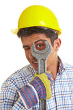 Looking through wrench Royalty Free Stock Photos