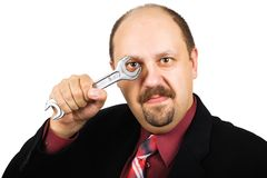 Looking through wrench Royalty Free Stock Photo