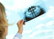 Looking at x-ray Stock Photography