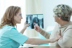 Looking at X-ray Royalty Free Stock Image