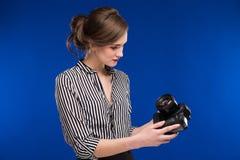 Girl looking at the camera Stock Photo