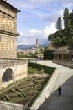 Lookingtowards Florença do palácio de Pitti Foto de Stock Royalty Free