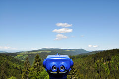 Lookout. View from a mountain over the black forest, germany Royalty Free Stock Photo