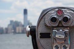 Lookout binocular closeup stock image