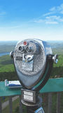 Lookout binoculars. Binoculars looking out on to Mt.Tremblant Royalty Free Stock Photo