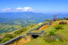 Lookout border outpost with a view Royalty Free Stock Photo