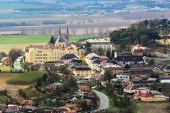 Lookout form Spis castle window. UNESCO, Slovak stock photography