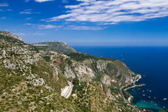 Lookout on the Grande Corniche. Provence, France Royalty Free Stock Images