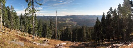 Lookout from Grosser Aber in Bayerischer Wald i Royalty Free Stock Images