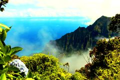 Lookout on Kauai Royalty Free Stock Photo