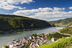 Lookout Middle Rhine Valley near Assmannshausen. Hessen, Germany Stock Photos