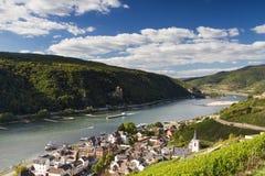 Lookout Middle Rhine Valley near Assmannshausen Stock Photos