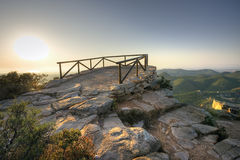 Lookout in mountain Royalty Free Stock Photos