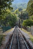 The Lookout Mountain Incline Railway in Chattanooga, Tennessee. It is billed as one of the worlds steepest passenger railways royalty free stock photography