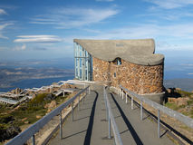 Lookout at Mt Wellington. The Lookout and Information Center at the top of Mt Wellington in Tasmania Australia Stock Photography