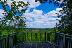 Lookout Platform. View from lookout platform in Mono Cliffs Provincial Park, Ontario stock image