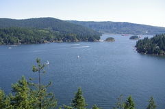 Lookout point from Quarry Rock royalty free stock photo