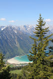 Lookout point to achensee, austrian alps Royalty Free Stock Photos