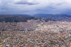 Lookout point to La Paz, Bolivia. Overview of La Paz, capital of Bolivia, South America Stock Photography