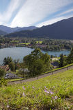 Lookout point with view to lake tegernsee and rottach-egern, aut Stock Photos