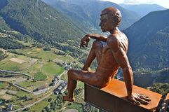 Lookout Roc del Quer. Lookout located on the mountain-Andorra Canillo Stock Photo