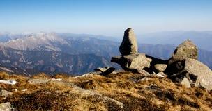 Lookout rock on Dragon-Turtle Mountain Royalty Free Stock Photos