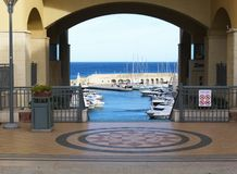 Lookout at sea port, La Valleta city, Malta Royalty Free Stock Photography