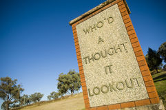 Lookout Sign Stock Image