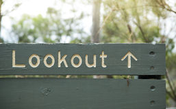 Lookout Sign Stock Photos
