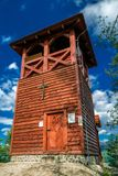 Lookout Spicak, Slovakia. Wooden lookout on hill Spicak, Slovakia royalty free stock photos